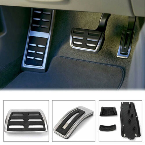 Car Foot Rest Fuel Brake Pedal Plate Cover Set For AUDI A4 S4 A5 A6 Q5 S5 A7