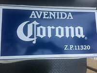 Avenida Corona Tin Metal Beer Sign Man Cave Pub Bar Mexico Cerveza