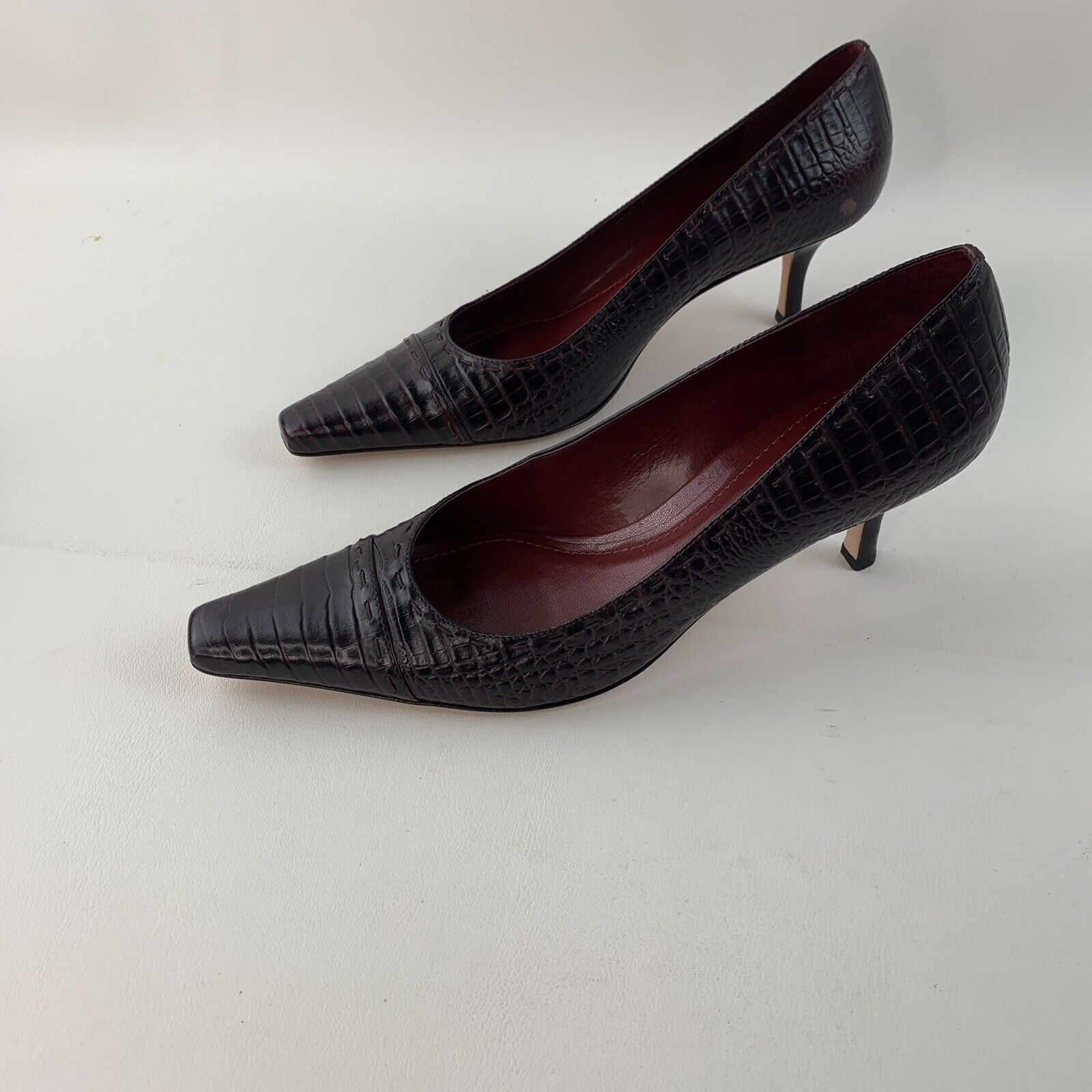 Ann Taylor Pumps Heels Size 9 1/2 Womens Brown Shoes