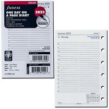 New Listing2022 Filofax Pocket Size Refill 22 68241 One Day On A Page 81mm X 120mm
