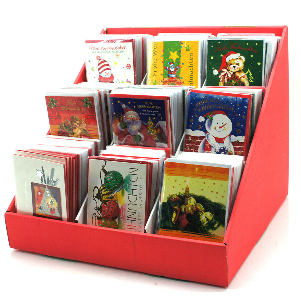 En weihnachskarten Display 500 pièces motifs différents différents motifs 499944