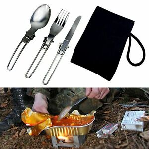 3pcs-Stainless-Steel-Foldable-Camping-Spoon-Fork-Knife-Flatware-Utensil-Set-Bag