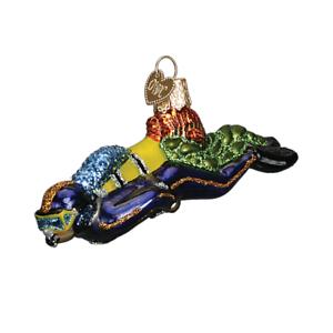 034-Scuba-Diver-034-24146-X-Old-World-Christmas-Glass-Ornament-w-OWC-Box