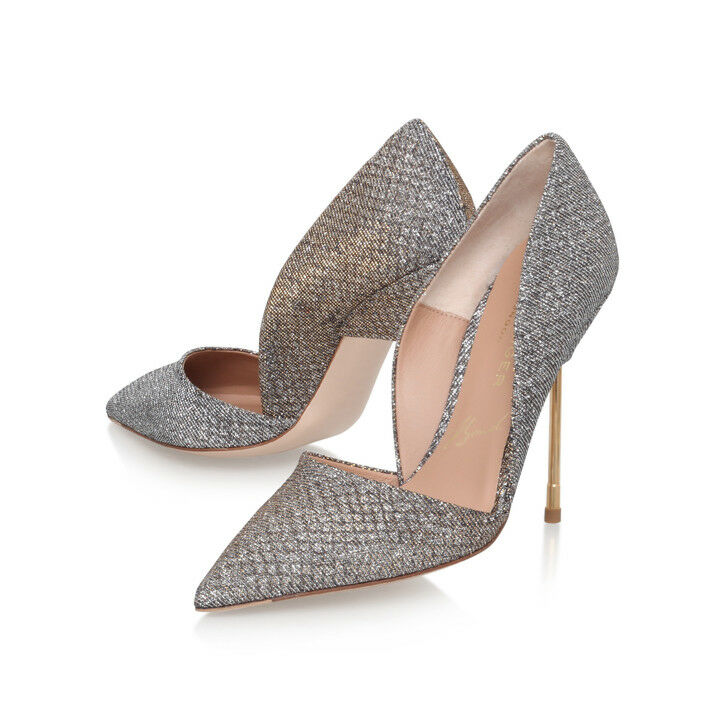 Kurt Geiger London 6/39US8 Metallico Shimmer Bond Scarpa 6/39US8 London 7/40US9 RRP .00 4cc772