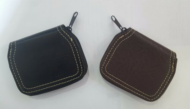 MENS WOMEN COIN WALLET PURSE FAUX LEATHER CHANGE SMALL POUCH TRAY  COIN PURSE