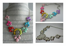 Multi Colour Crystal Statement Necklace Choker Rhinestone Necklace Bib Necklace