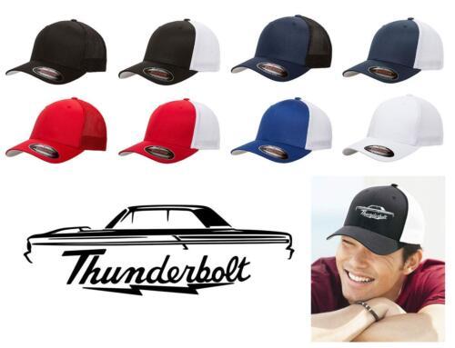 1964 Ford Fairlane Thunderbolt Classic Car Color Outline Design Hat Cap