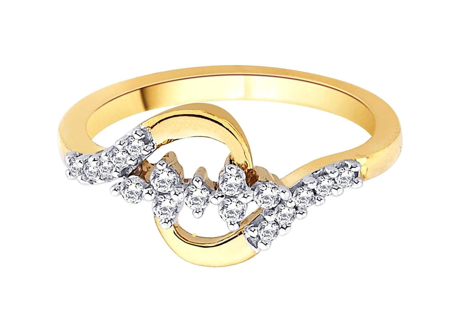 0.68ct Diamond 14k Yellow gold Precious Ladies Christmas Engagement Ring