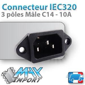 Connecteur-IEC320-C14-male-Prise-110-220V-3P-Lots-multiples-prix-degressif