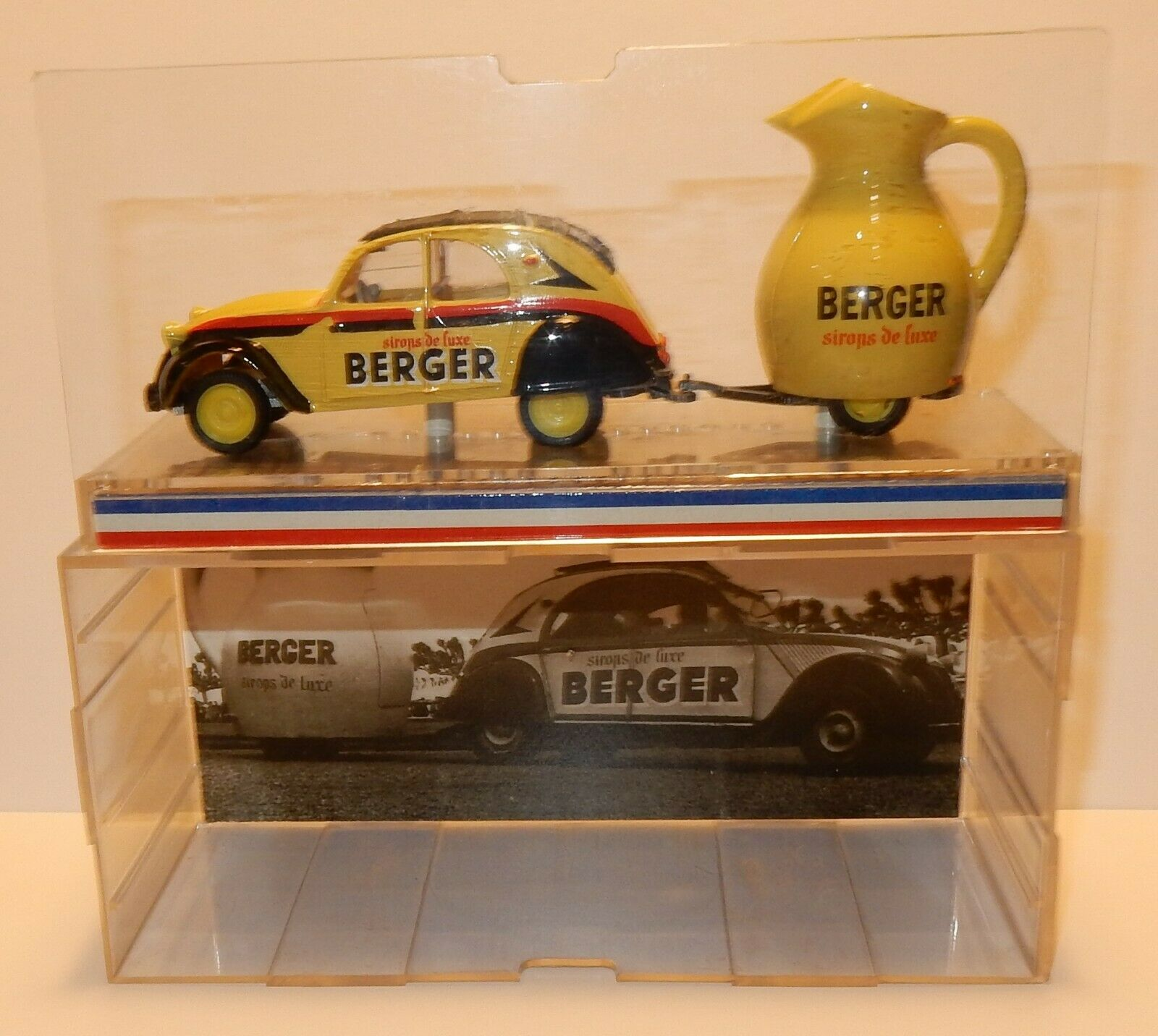 RARE TOUR DE FRANCE NOREV CITROEN 2CV AZU 1955 BERGER SIROP DE LUXE IN BOX