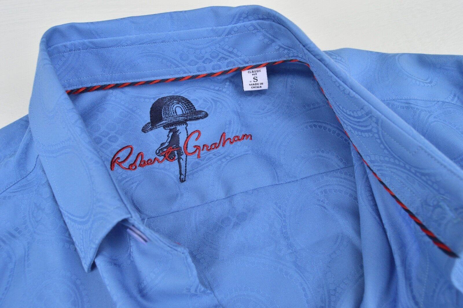 NWT  Robert Graham Mens long sleeve shirt size S Casual Shirt  VERY NICE
