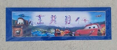 Lightning Mcqueen Cars Movie Wall Art Bedroom Decor Custom Name Ian New Ebay