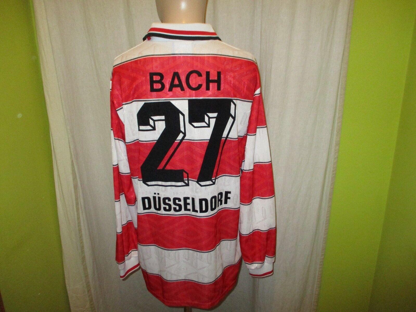 Fortuna Düsseldorf umbro Langarm Matchworn Trikot 1995 96 96 96 + Nr.27 Bach Gr.XL  | Neues Produkt  06749f