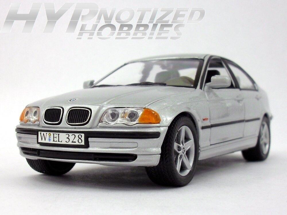 WELLY 1 24  N B 1998 BMW 328I DIE-CAST SLIVER 9395  confortablement