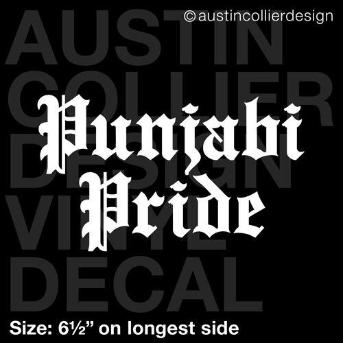 """6.5/"""" PUNJABI PRIDE vinyl decal car window laptop sticker desi india gift"""