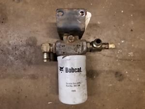 Details about Bobcat Deutz 873 863 Hydraulic Oil Filter head w/ fittings +  bracket 6661247