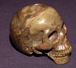 Réaliste Crâne De Pierre Précieuse Crâne Achat 87 7 G 50x42x33mm