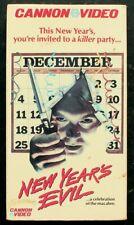 NEW YEAR'S EVIL (1980) Cannon ~ SLASHER ~ HORROR ~ GORE ~ Slipcase~Roz Kelly VHS