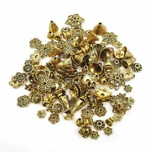Vintage-Alloy-Flower-Bead-Cap-Spacer-End-Bead-Tail-Jewelry-Making-Findings