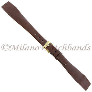 16mm-Hirsch-Brown-Genuine-Nappa-Calf-Leather-Tapered-Ladies-Open-Ended-Band-Reg