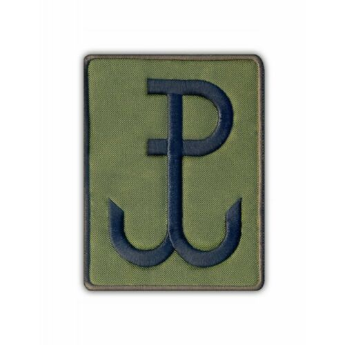 Anchor //Polska Walcząca Kotwica Embroidered PATCH//BAD olive Fighting Poland