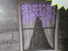 """Electric Lighted Scary-Cicles Purple Window Lights Inside Use 50 Lights 32"""" Wide"""