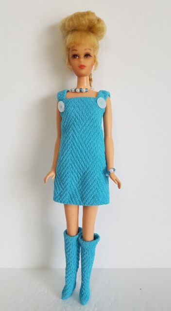 FRANCIE DOLL CLOTHES Dress Overalls, Boots and Jewelry HM Fashion  NO DOLL d4e