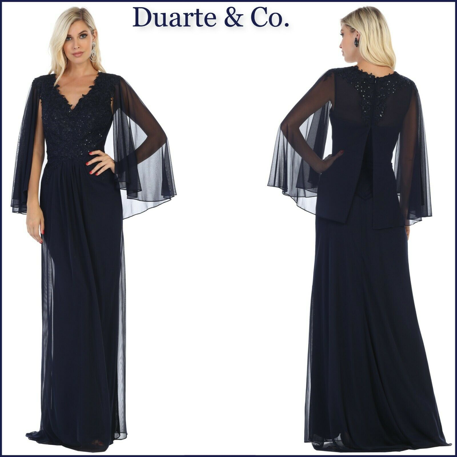 Mother Of Bride Gown Plus Size Navy