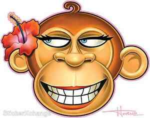 Hibiscus-Monkey-Sticker-Decal-Artist-Doug-Horne-H18