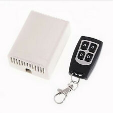 12V 4CH Channel Wireless Remote Control Radio Relay Switch Transceiver Receiver