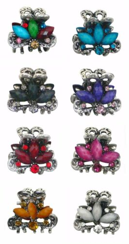 Mini Jaw Clip Decorated with Colorful Beads and Sparkling Stones U864175-0580