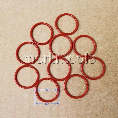 2.4mm Section Select OD from 8mm to 50mm VMQ Silicone O-Ring gaskets