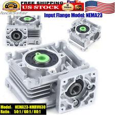 Nema23 Worm Gearbox Worm Gear Reducer Speed Ratio 50 601 801 F Stepper Motor