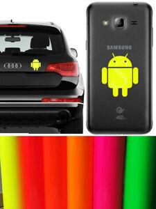 Android-sticker-vinyl-cut-Fluorescent-Yellow-Pegatina-Amarillo-Fluorescente
