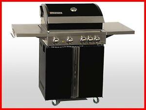 Coobinox-Edelstahl-Gasgrill-4-Brenner-PIANO-Griller-Grill-Grillwagen-Backburner
