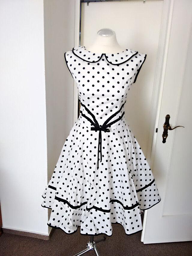 Damen Kleid Swing Tanz Rockabilly 50er 60er Retro Polka, Gr. 36-42