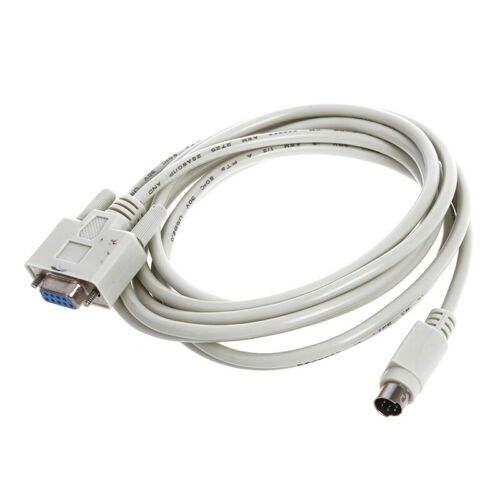 DB9P A 8P Mini Din RS232 Cable De Descarga Blanco 8.2 Para PLC DVP-EH O4K7 8W