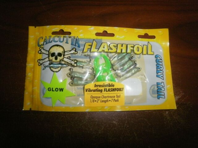 CALCUTTA FLASHFOIL CURLY TAILS LURES FFCT2PI 2 INCH 1//8 OUNCE 7 PACK