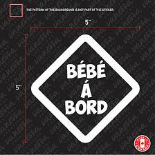 2x BÉBÉ À BORD Sticker Car decal losange