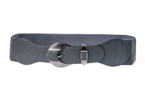 Cintura Elastica In Finta Pelle Fibbia Argento Cinturino HOT Colori Taglia 8-16 sb334