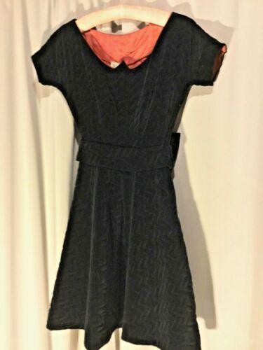 Vintage 1950S Glamour NatLynn Originals Black Velv