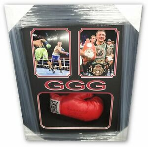 NAMEPLATE FOR SIGNED GLOVES//TRUNKS//PHOTO DISPLAY GENNADY GOLOVKIN BOXING