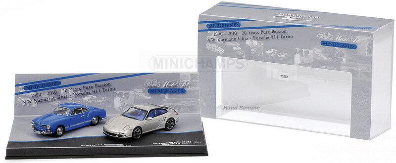MINICHAMPS 402 902010 PORSCHE & VW GHIA 20th ANNIVERSARY model 2 car set 1 43rd