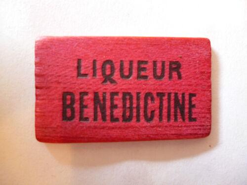 """jeton de jeu publicitaire ancien liqueur/""""BENEDICTINE/"""""""