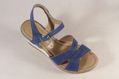 Marco Tozzi Femme Sandales Sandales Véritable Cuir Bleu 28391 NOUVEAU!!!