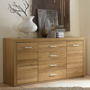 sideboard kernbuche teilmassiv nature anrichte wohnzimmer kommode ebay. Black Bedroom Furniture Sets. Home Design Ideas