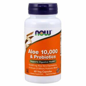 Aloe-10-000-amp-Probiotics-60-Veg-Capsules-by-Now-Foods