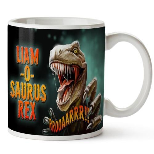 Personalised Mug T REX O SAURUS Cup Christmas Gift Stocking Filler Xmas KS70