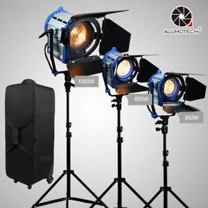 For Film Dimmer Built-in 300W+650W+1000W Fresnel Tungsten Spot Light+Case+Stand
