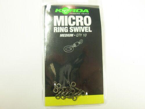 Korda Micro Anneau Pivotant Medium 10pk Carp Fishing Tackle